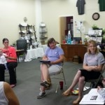 A group of women in a Doula class