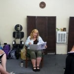 Former Madriella Advisory Board member Corey Strouse teaching a Doula class