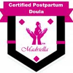 A display of the Madriella Postpartum Doula MemberDigital Badge