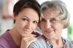 An older woman and a younger woman