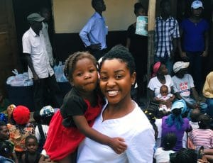 Pascale, a Madriella Doula volunteering in Haiti