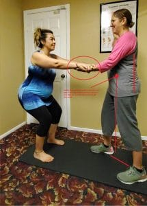 Example of the squat exercise